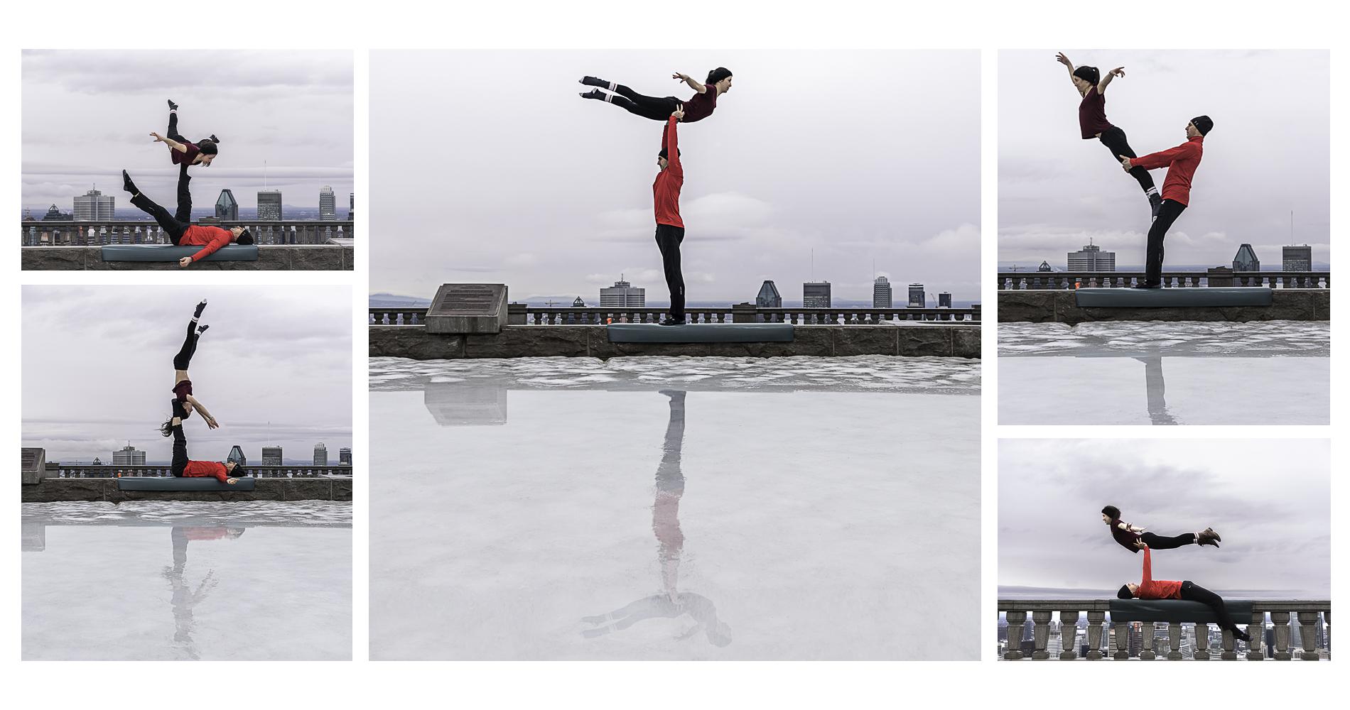 Acro-yoga belvédère du Mont-Royal